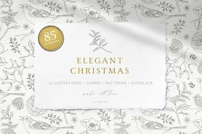 Elegant-Christmas - 37+ Awesome Christmas Backgrounds, Patterns [year]
