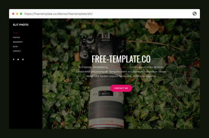 Elit-Onepage - 53+ Free HTML CSS Portfolio Web Design Templates [year]
