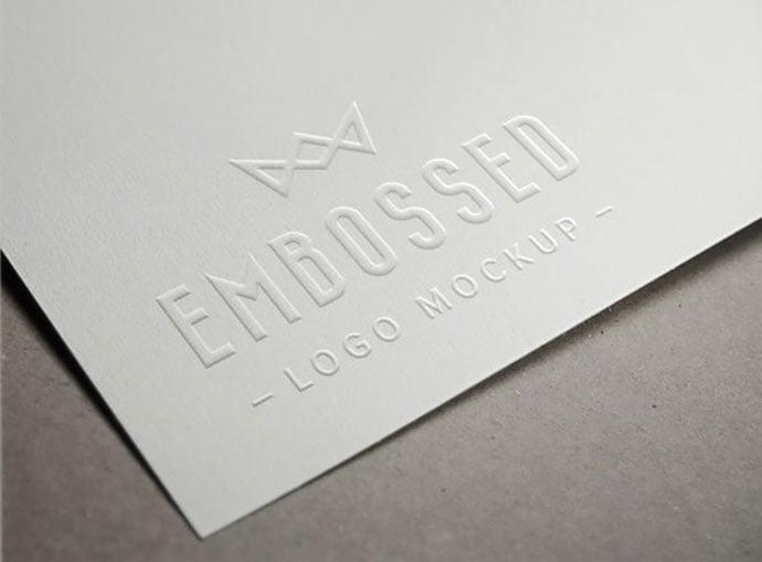 Embossed-Paper - 40+ Nice Free PSD Showcase Logo For Designer [year]