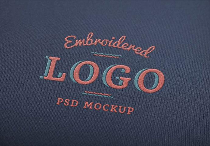 Embroidered-Logo-MockUp - 40+ Nice Free PSD Showcase Logo For Designer [year]