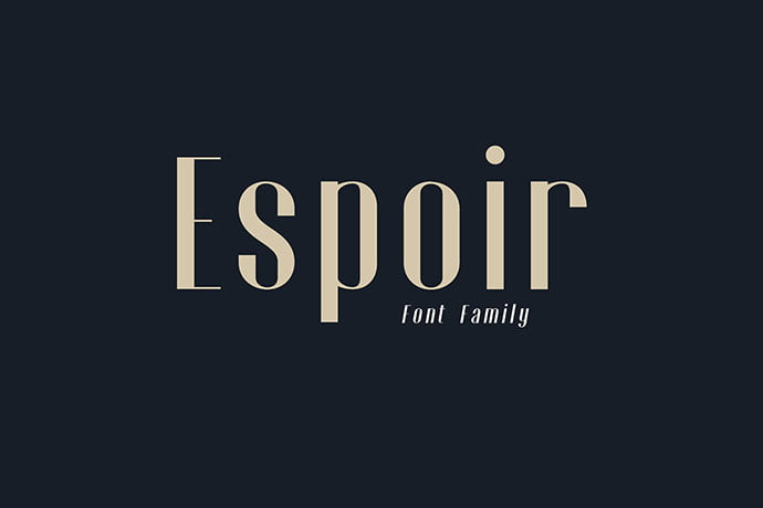 Espoir - 43+ Important Free Fonts Collection [UPDATE 2020]