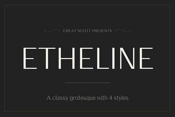 Etheline - 45+ Amazing Sans Serif Fonts For Minimalist Designs [year]