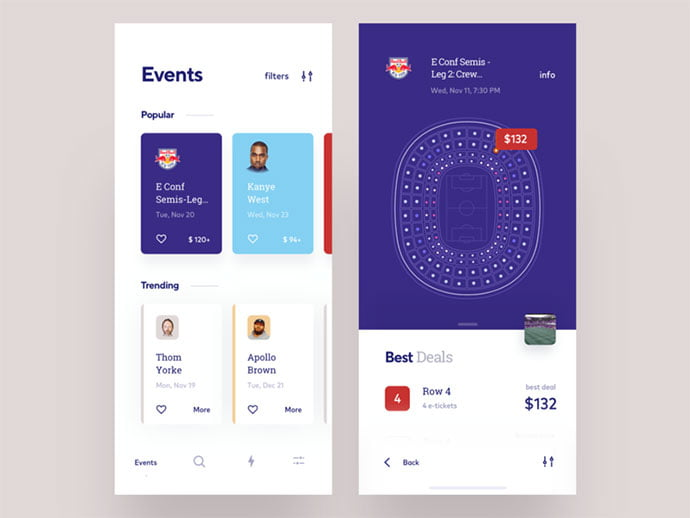 Events-app-concept - 53+ NICE Free Seat Reservation App UI Design IDEA [year]