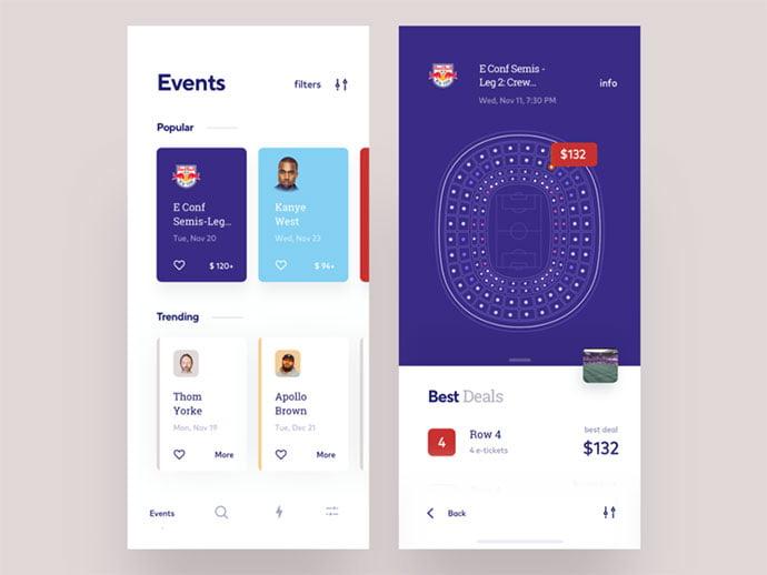 Events-app-concept