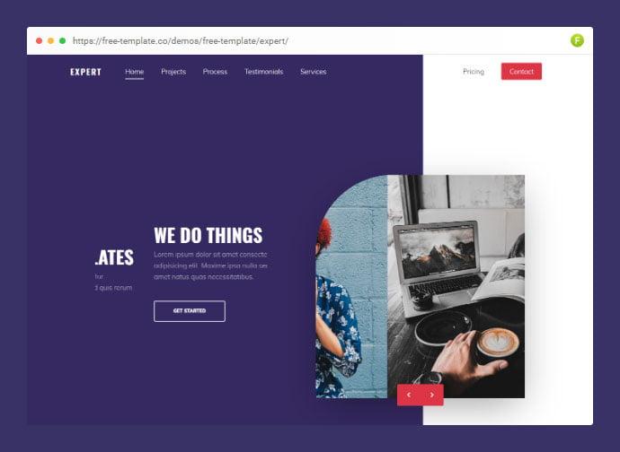 Expert - 53+ Free HTML CSS Portfolio Web Design Templates [year]