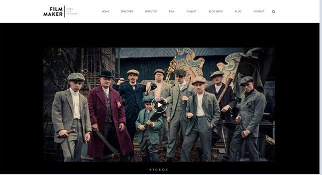 FilmMaker-1 - 35+ Nice Videographers & Cinematographers WordPress Themes [year]