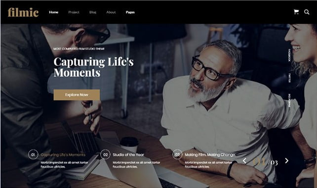 Filmic - 35+ Nice Videographers & Cinematographers WordPress Themes [year]
