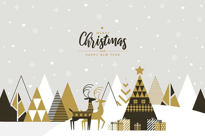 Flat-Design - 37+ Awesome Christmas Backgrounds, Patterns [year]