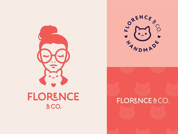 Florence-Co. - 33+ Free Awesome Portrait Logo Designs Sample [year]