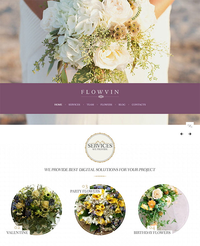 Flower-Shop - 32+ Impressive Retro Cool WordPress Themes [year]