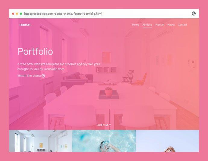 Format - 53+ Free HTML CSS Portfolio Web Design Templates [year]