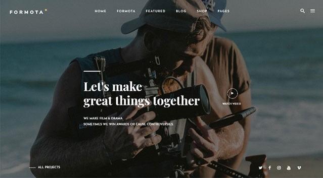 Formota-1 - 35+ Nice Videographers & Cinematographers WordPress Themes [year]