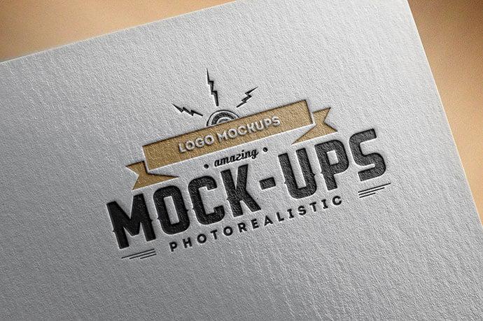 Free-Logo-Mock-up - 40+ Nice Free PSD Showcase Logo For Designer [year]