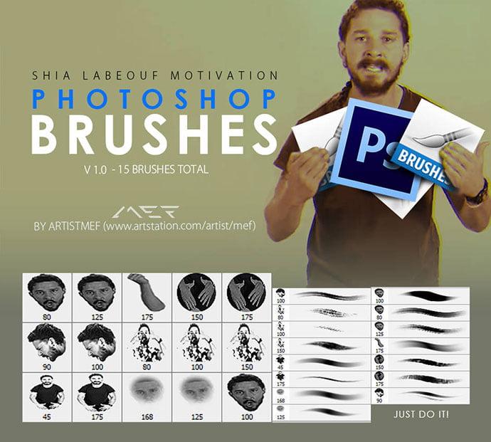 Free-Shia-LaBeouf-Motivation-Photoshop-Brushes - 44+ Nice Free Photoshop Brush Sets For Designer [year]