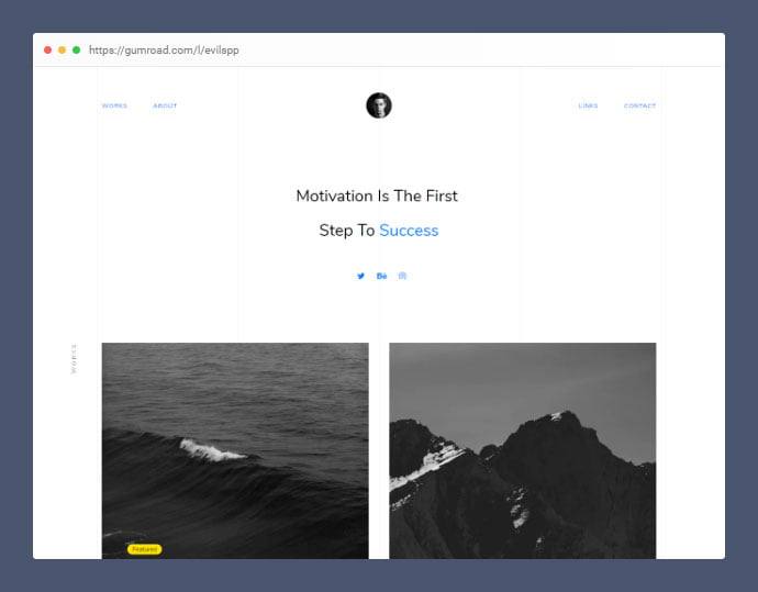 Free-Single-Page-Minimal - 53+ Free HTML CSS Portfolio Web Design Templates [year]