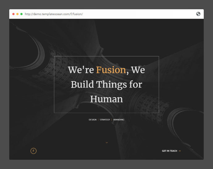 Fusion - 53+ Free HTML CSS Portfolio Web Design Templates [year]