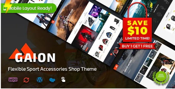 Gaion - 29+ Best Bike Store Responsive WordPress Themes [year]