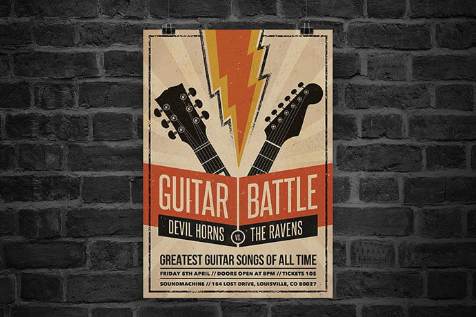 Guitar-Battle-Flyer - 48+ Lovely Flyer & Poster Design Templates [year]