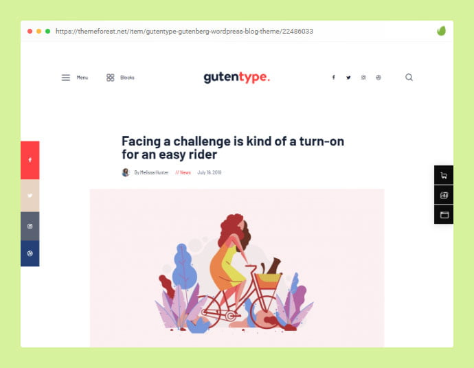 Gutentype - 33+ Awesome Super Fast Website WordPress Themes 2020