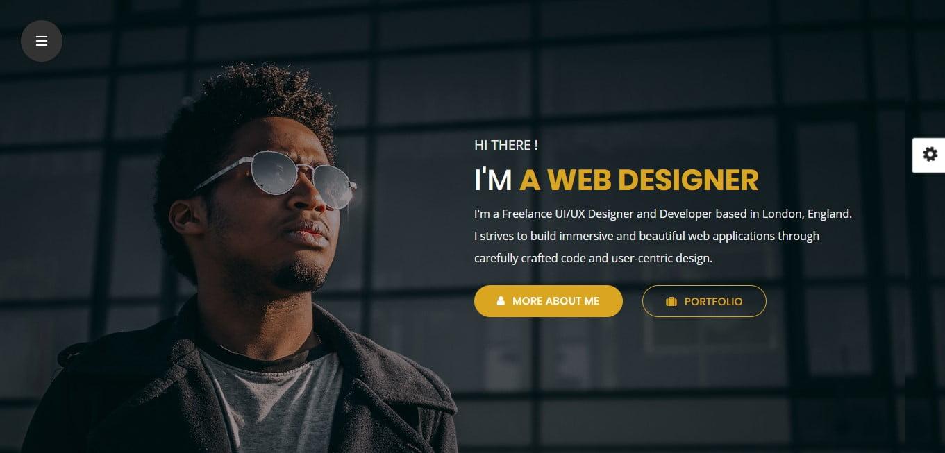 HTML-CSS-Portfolio-Web-Design - 53+ Free HTML CSS Portfolio Web Design Templates [year]