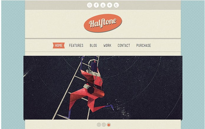 Halftone - 32+ Impressive Retro Cool WordPress Themes [year]