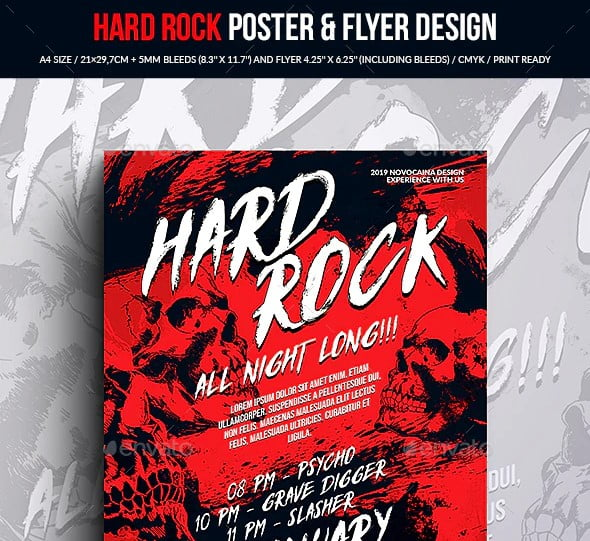 Hard-Rock-Party-Poster-Flyer-Design - 48+ Lovely Flyer & Poster Design Templates [year]