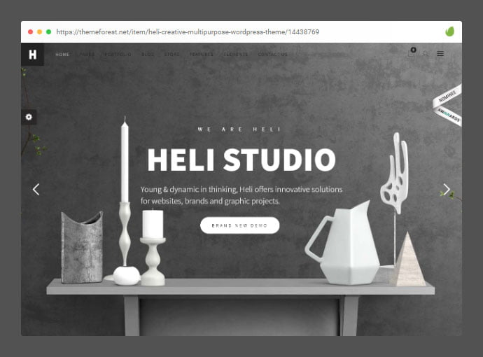 Heli - 33+ Awesome Super Fast Website WordPress Themes [year]