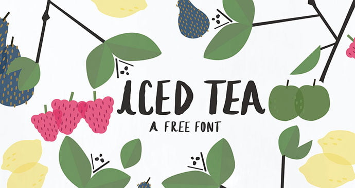 Iced-Tea - 43+ Important Free Fonts Collection [UPDATE 2020]
