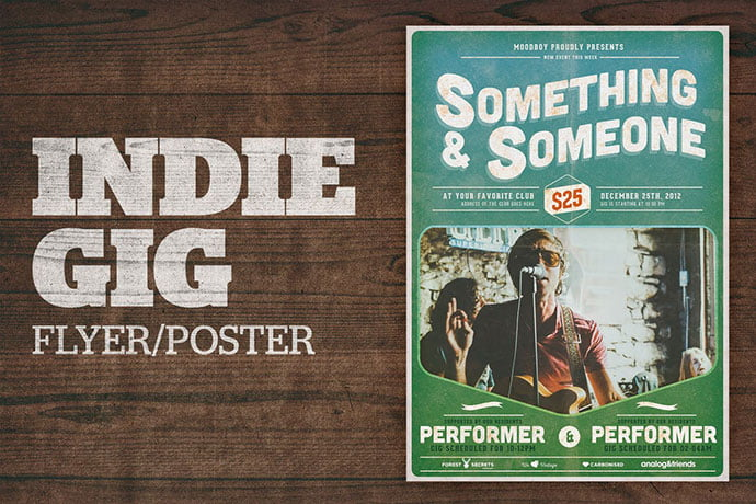Indie-Gig-Poster - 48+ Lovely Flyer & Poster Design Templates [year]