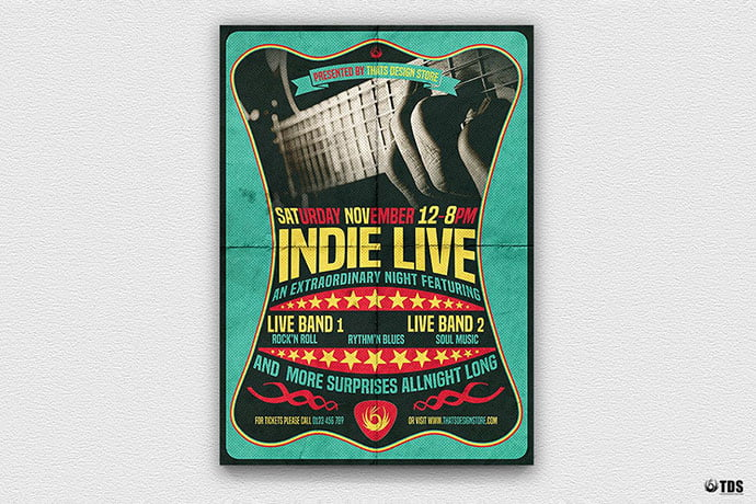 Indie-Live-Flyer-Template - 48+ Lovely Flyer & Poster Design Templates [year]