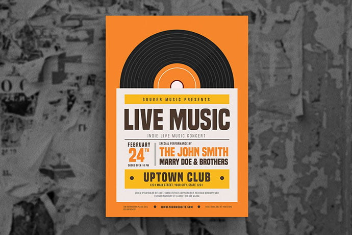 Indie-Live-Music-Flyer - 48+ Lovely Flyer & Poster Design Templates [year]