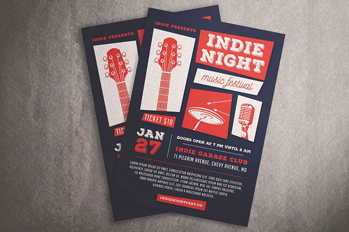 Indie-Night-Music-Festival - 48+ Lovely Flyer & Poster Design Templates [year]