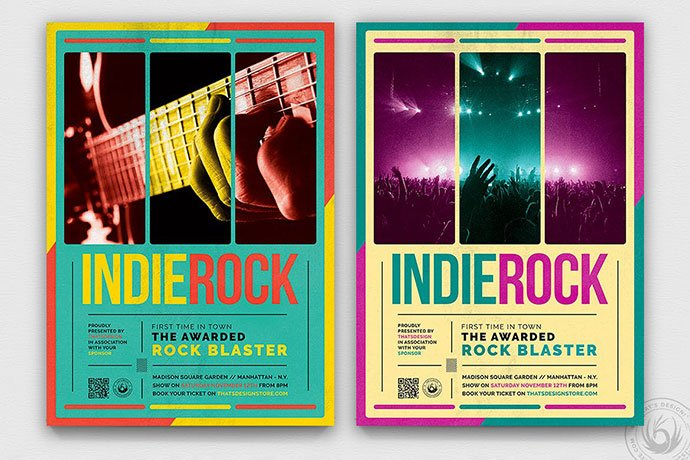 Indie-Rock-Flyer-Template-V2 - 48+ Lovely Flyer & Poster Design Templates [year]
