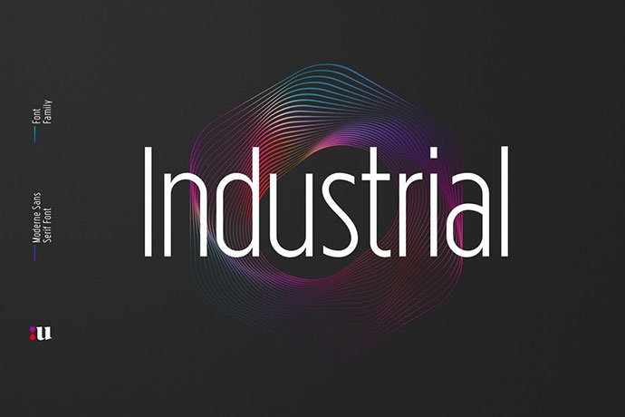 Industrial - 45+ Amazing Sans Serif Fonts For Minimalist Designs [year]