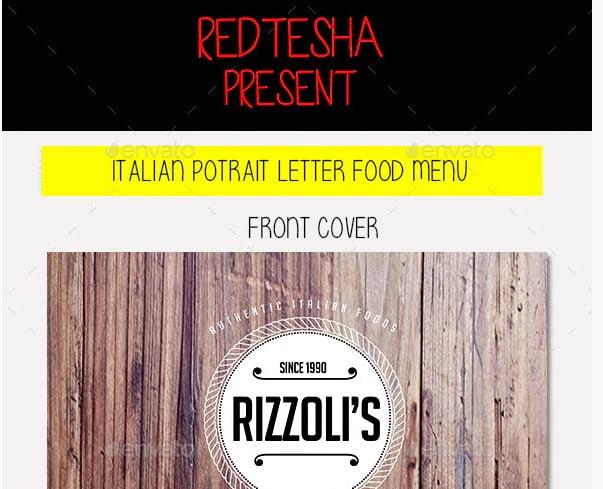 Italian-Food-Menu - 33+ Free Awesome Portrait Logo Designs Sample [year]