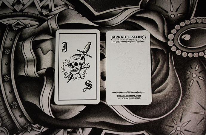Jarrad-Serafino - 31+ Awesome Free Tattoo Business Card Designs 2020