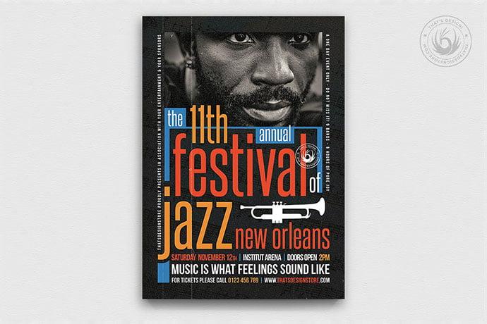 Jazz-Festival-Flyer-Template-V10 - 48+ Lovely Flyer & Poster Design Templates [year]