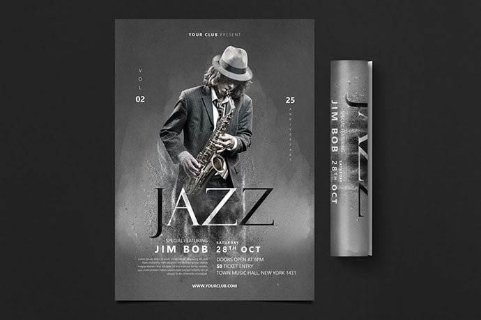 Jazz-Flyer - 48+ Lovely Flyer & Poster Design Templates [year]