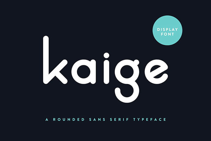 Kaige - 45+ Amazing Sans Serif Fonts For Minimalist Designs [year]