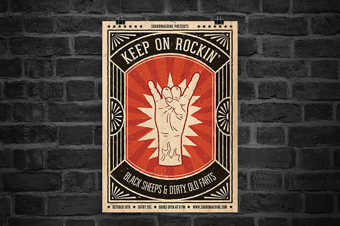 Keep-On-Rockin'-Flyer - 48+ Lovely Flyer & Poster Design Templates [year]