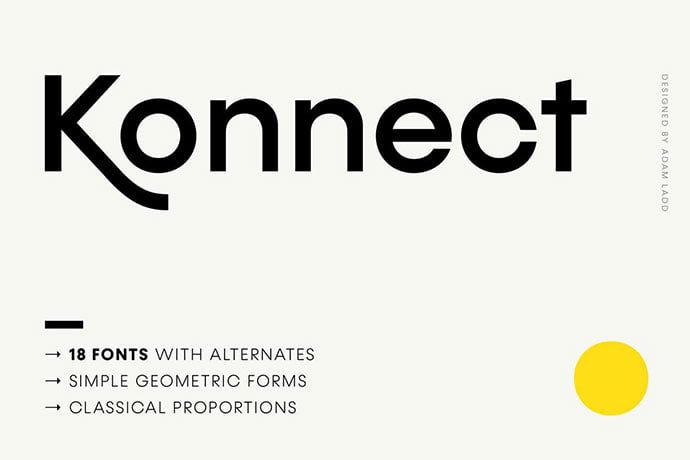 Konnect - 45+ Amazing Sans Serif Fonts For Minimalist Designs [year]