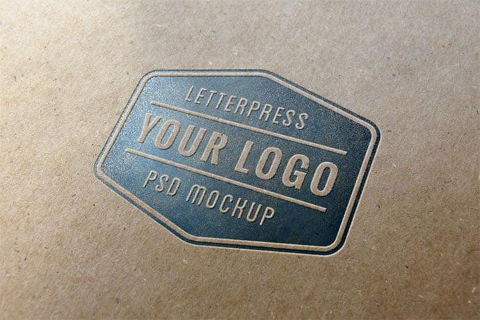 Letterpress - 40+ Nice Free PSD Showcase Logo For Designer [year]
