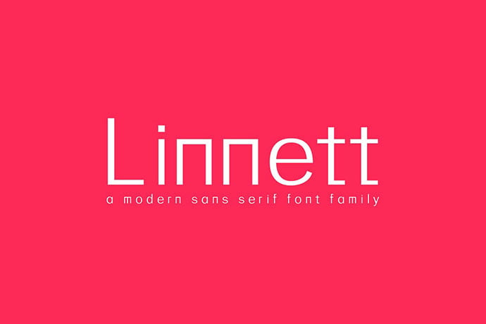 Linnett - 45+ Amazing Sans Serif Fonts For Minimalist Designs [year]