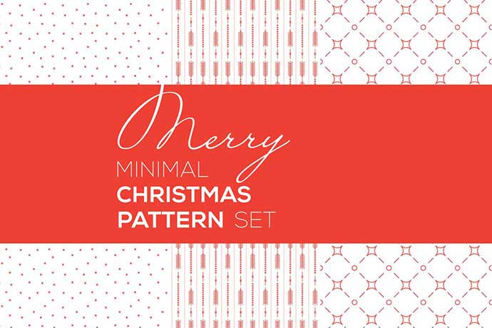 Merry-Christmas-Minimal-Patterns - 37+ Awesome Christmas Backgrounds, Patterns [year]