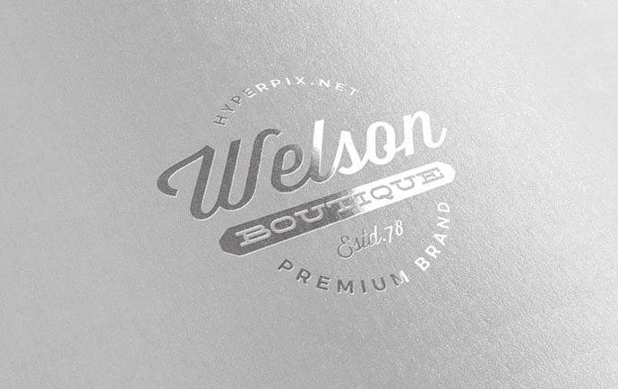 Metallic-Silver - 40+ Nice Free PSD Showcase Logo For Designer [year]