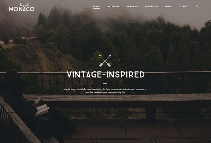 Monaco - 32+ Impressive Retro Cool WordPress Themes [year]