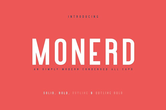 Monerd - 45+ Amazing Sans Serif Fonts For Minimalist Designs [year]