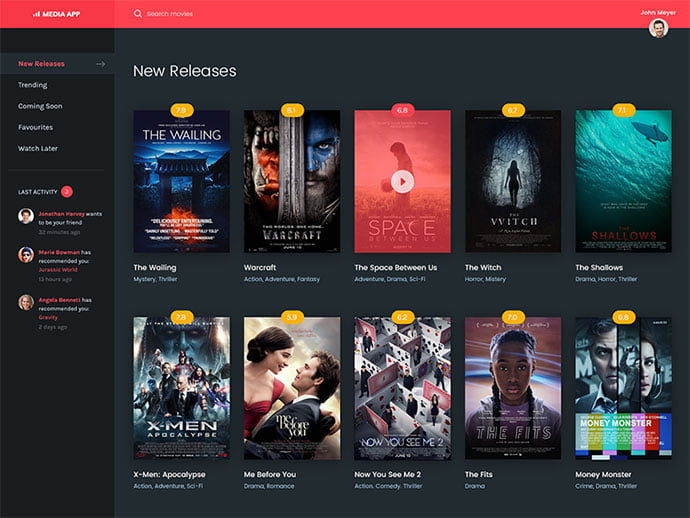 Movie-Application - 53+ Free Nice Film & TV Website Designs IDEA [year]
