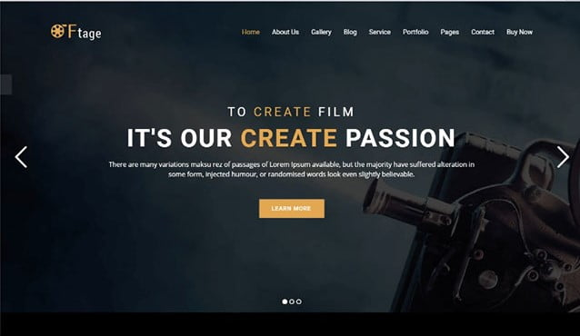 Movie-Productione - 35+ Nice Videographers & Cinematographers WordPress Themes [year]