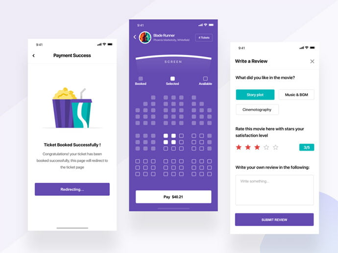 Movie-booking-app - 53+ NICE Free Seat Reservation App UI Design IDEA [year]
